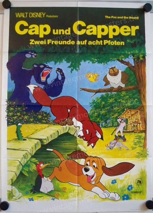 the fox and the hound german movie poster walt disney cap