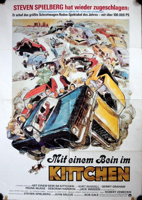 mit einem bein im kittchen filmposter a1 used cars spielberg kurt russell warden ebay